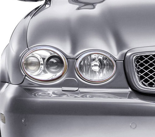 Jaguar X-Type 2008 onwards headlight trims