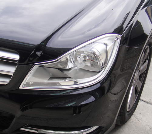 Mercedes C-Class W204 2011 onwards headlight trims (R/L)