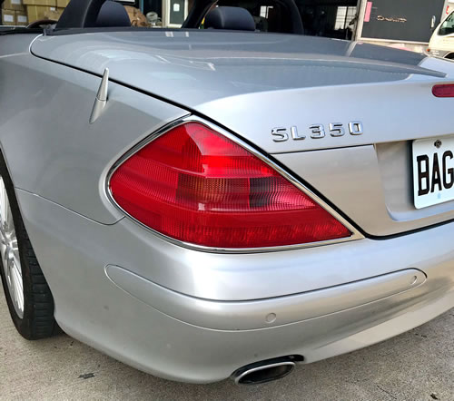 Mercedes SL R230 2002-08 rear light trims